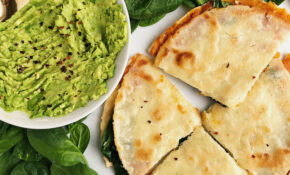 Sweet Potato + Greens Quesadilla (vegan) – Gluten Free Recipes Vegetarian