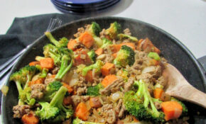 Sweet Potato, Onion, Broccoli, Ground Turkey One Pan Dinner – Dinner Recipes Ground Turkey