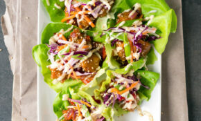 Sweet & Sour Porkless Lettuce Cups