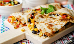 Sweet Vegan Quesadilla with Sweet Potatoes