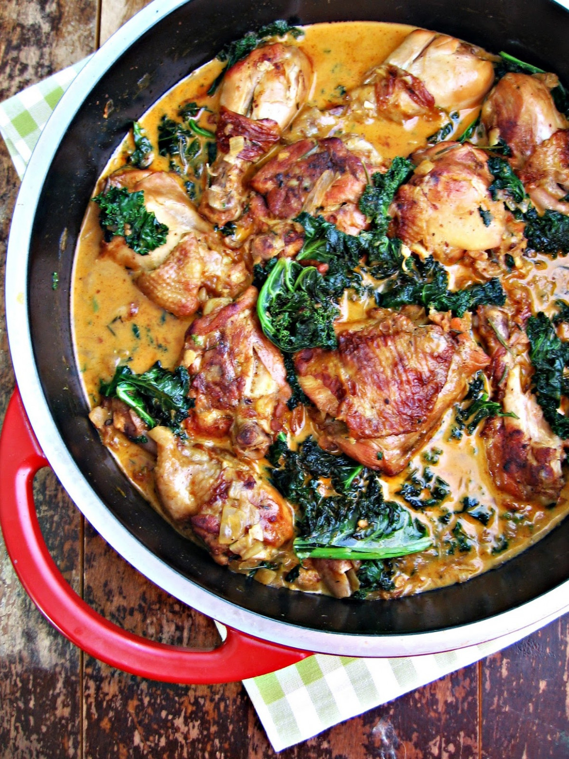 sweetsugarbean: Braised Chicken and Kale with Paprika ..