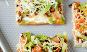 Taco Pizza – Dinner Recipes You Can Make The Night Before