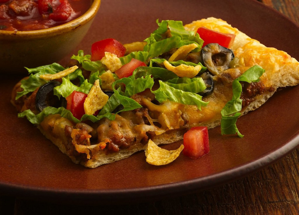 Taco Pizza Recipe - Dinner Recipes Oven