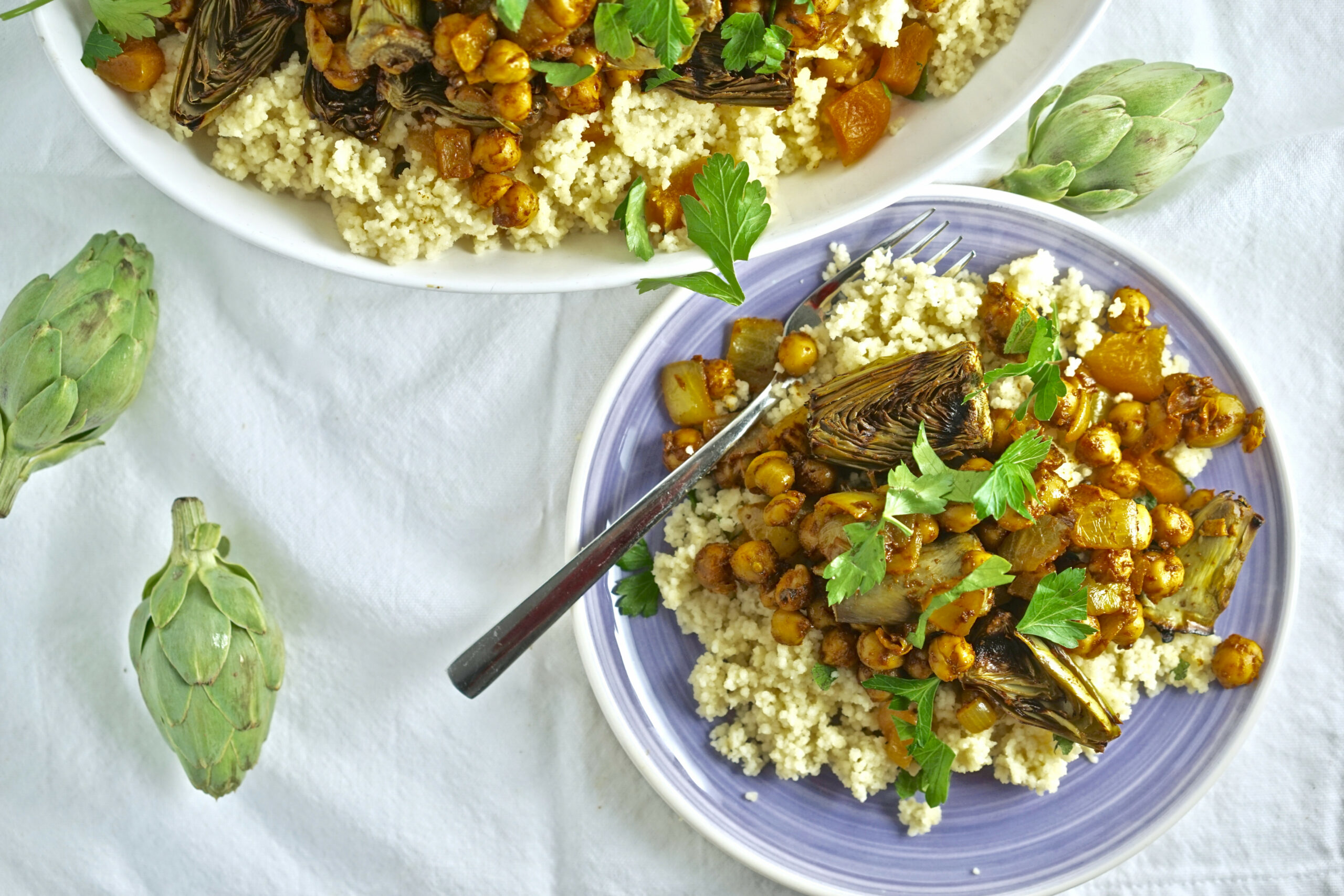 Tagine With Grilled Artichokes, Chickpeas, And Preserved Lemon - Vegetarian Recipes Using Preserved Lemons