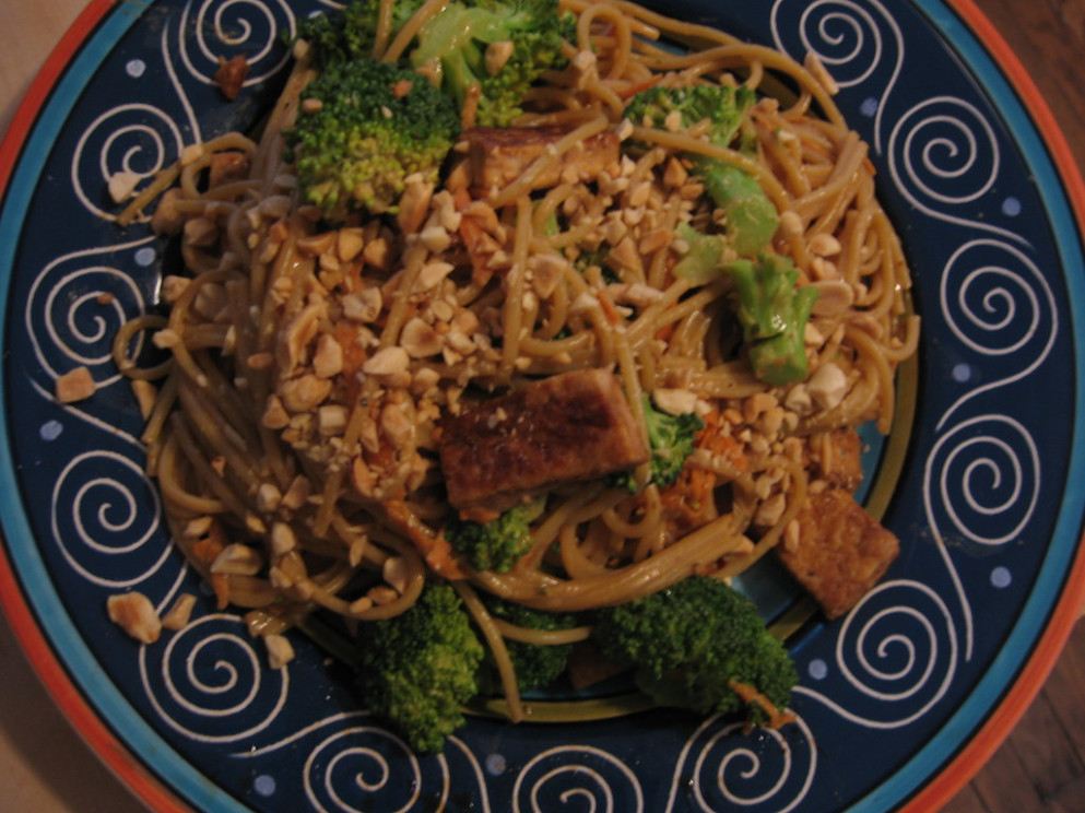 tahini peanut noodles (vegan yum yum remix) - tofu vegan recipes dinner