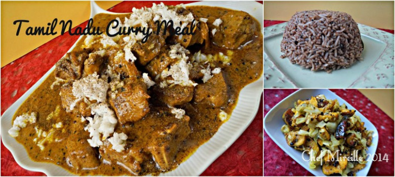 Tamil Nadu Dinner - Chettinad Lamb Curry, Puliotharai ..