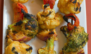 Tandoori Grilled Broccoli And Cauliflower Kebabs | Veggie ..
