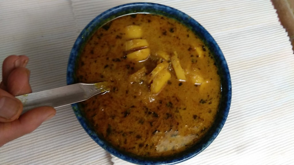 Taro Root's Curry With Gravy - Recipes Vegetarian Main Meals