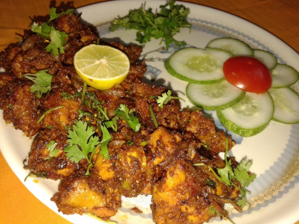 Tasty Chicken Fry Cooked In Tomato Puree Recipe - Chicken Recipes Tasty