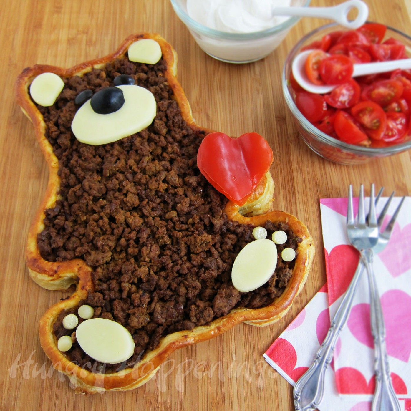 Teddy Bear Taco Tart- Valentine's Day Dinner - Hungry ..