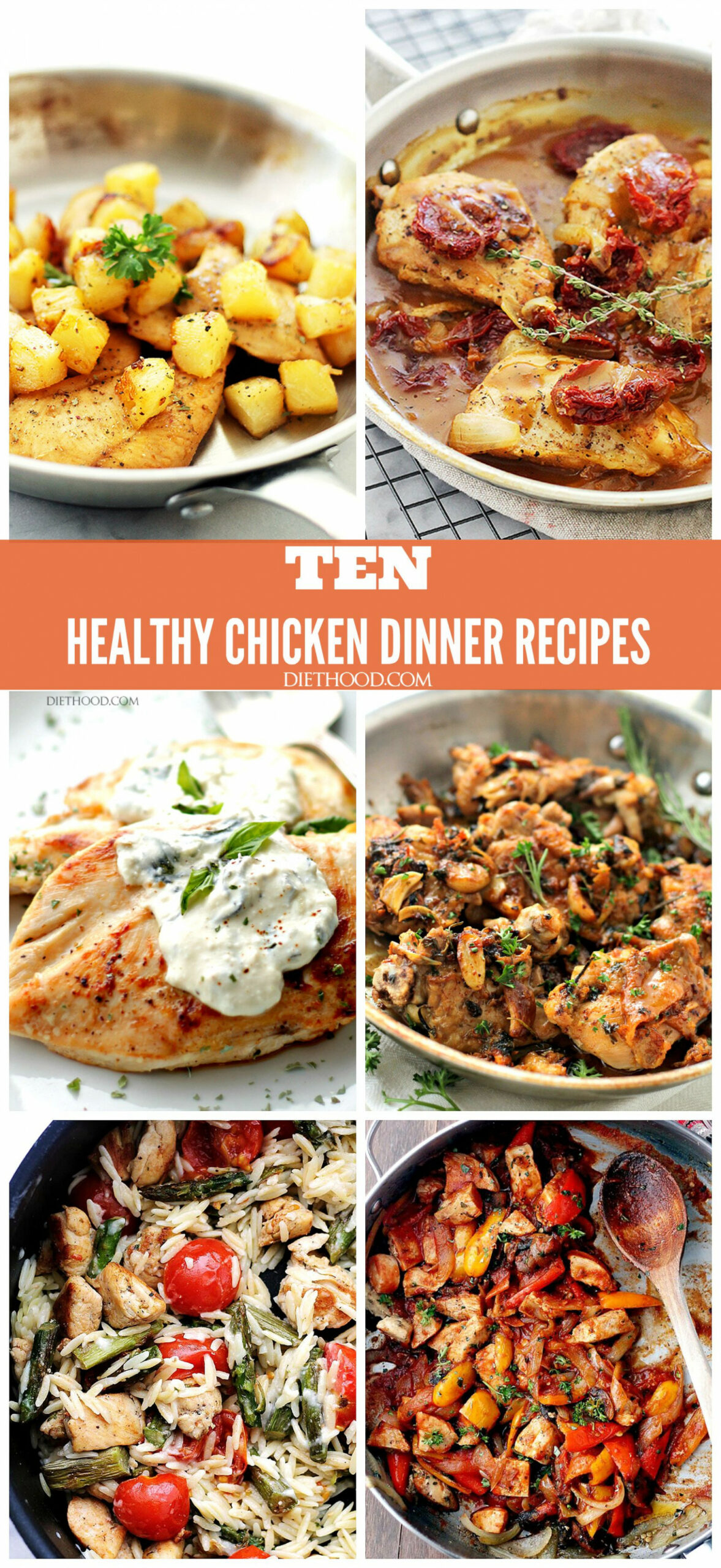 TEN HEALTHY CHICKEN DINNER RECIPES - A Compilation Of My ..