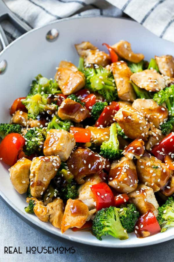 Teriyaki Chicken and Vegetables with Video ⋆ Real Housemoms - dinner recipes veg