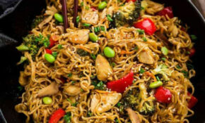 Teriyaki Chicken Ramen Noodle Stir Fry (One Pot Skilet ..