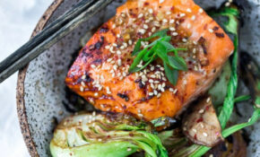 Teriyaki Salmon With Baby Bok Choy And Shiitakes – Healthy Recipes Salmon