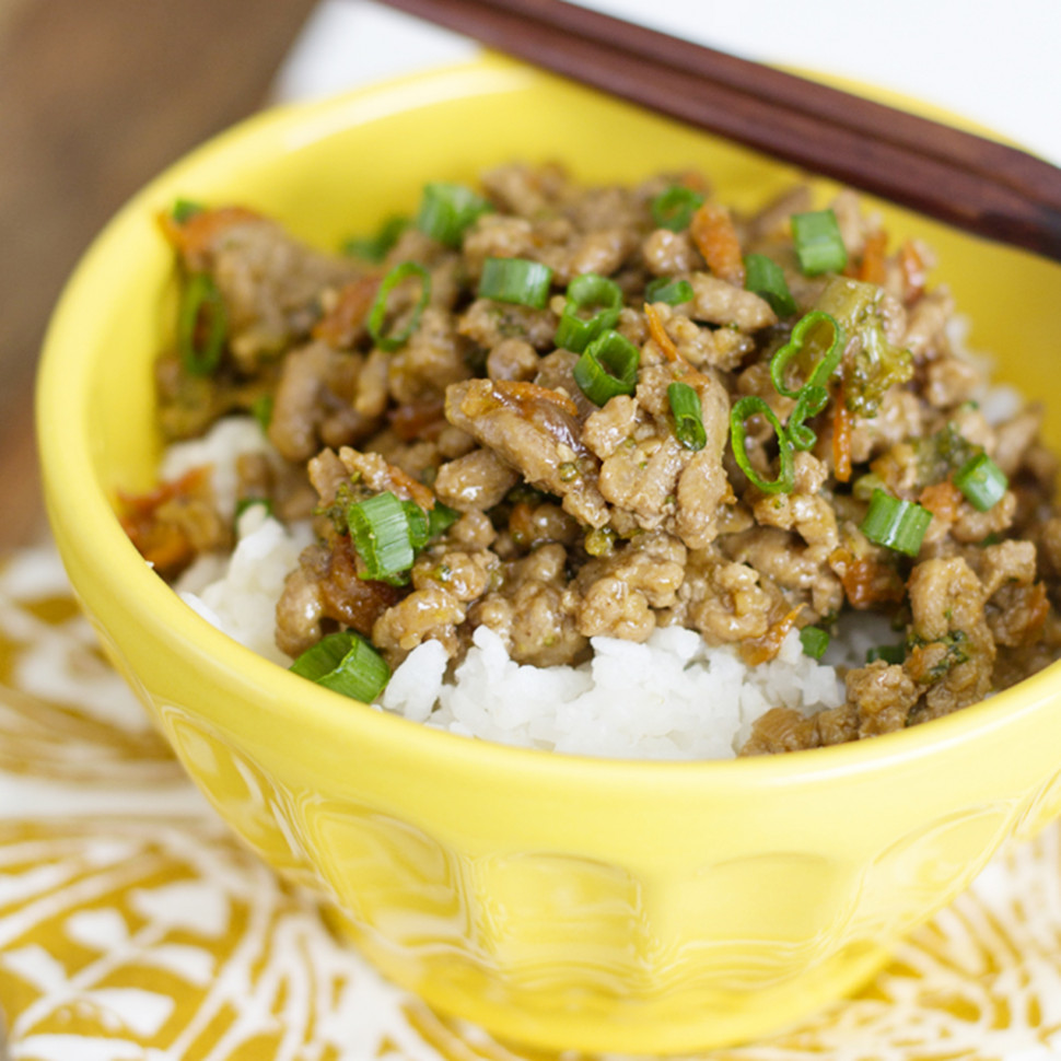 Teriyaki Turkey Rice Bowl - recipes you can make with ground chicken