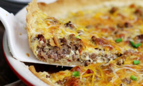 Tex Mex Cheesy Beef Quiche Recipe | Diethood – Recipes Quiche Vegetarian
