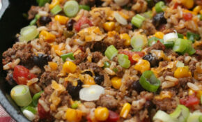 Tex Mex Ground Beef Skillet – I Heart Recipes – Dinner Recipes Using Ground Beef