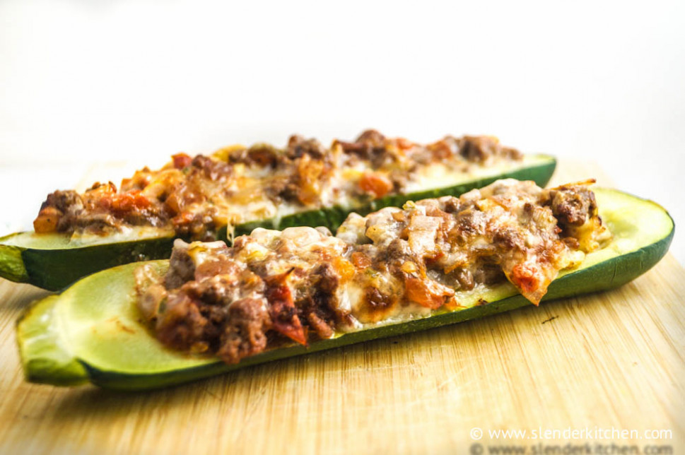 Tex Mex Stuffed Zucchini - Slender Kitchen - Weight Watchers Chicken And Zucchini Recipes