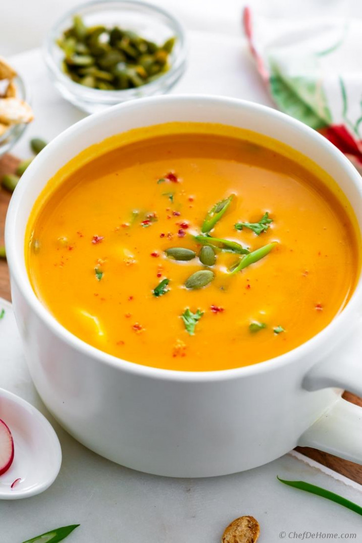 Thai Butternut Squash Soup with Coconut Milk (Creamy, Spicy) - coconut milk recipes dinner