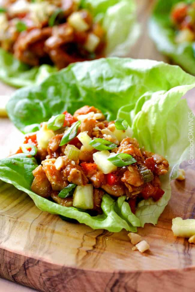 Thai Chicken Lettuce Wraps (with the BEST Sauce!) - lettuce wrap recipes chicken