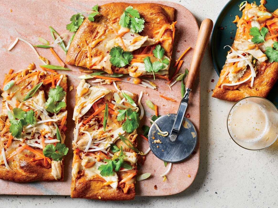Thai Chicken Pizza - thai recipes chicken