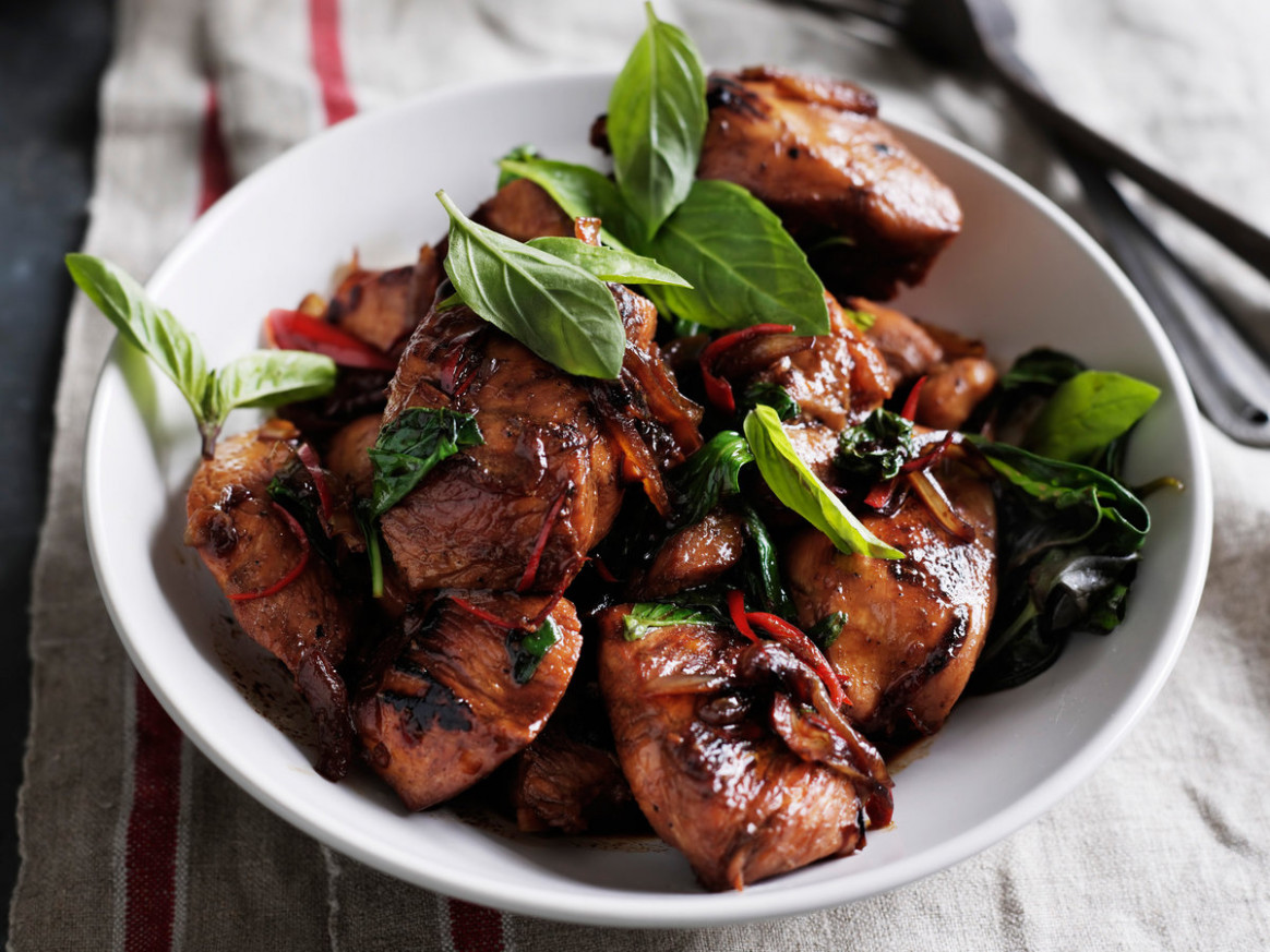 Thai Chicken with Basil Recipe - Quick From Scratch Herbs ..
