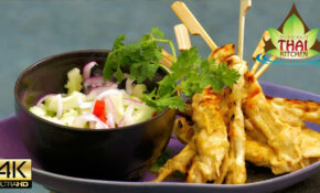 Thai Food BBQ Chicken Satay Skewers Recipe ️️ – YouTube – Thai Food Recipes Youtube