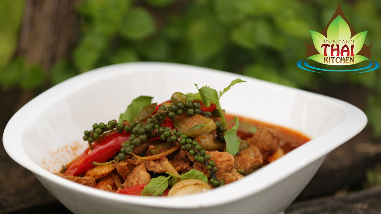 Thai Food Jungle Pork Curry Recipe ️️ - YouTube - thai food recipes youtube