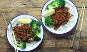 Thai Fried Beef With Sticky Coconut Rice – Healthy Mince Recipes