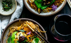 Thai Ginger And Garlic Noodle Bowls | Vanilla And Bean – Japanese Vegetarian Recipes Dinner