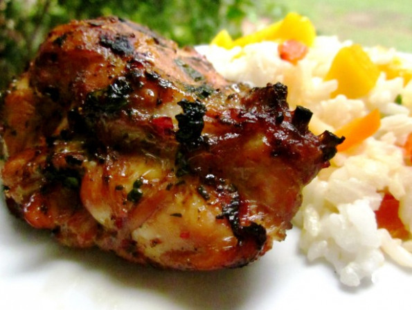 Thai Grilled Chicken Thighs Recipe - Food