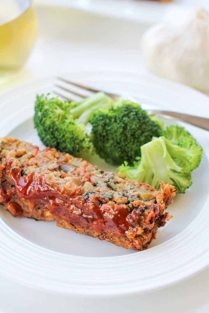 Thai Lentil Vegan Meatloaf with Marmalade Glaze - recipe vegetarian meatloaf