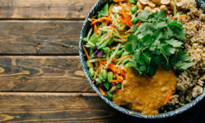 Thai Peanut Rice Bowl – Vegetarian Rice Bowl Recipes