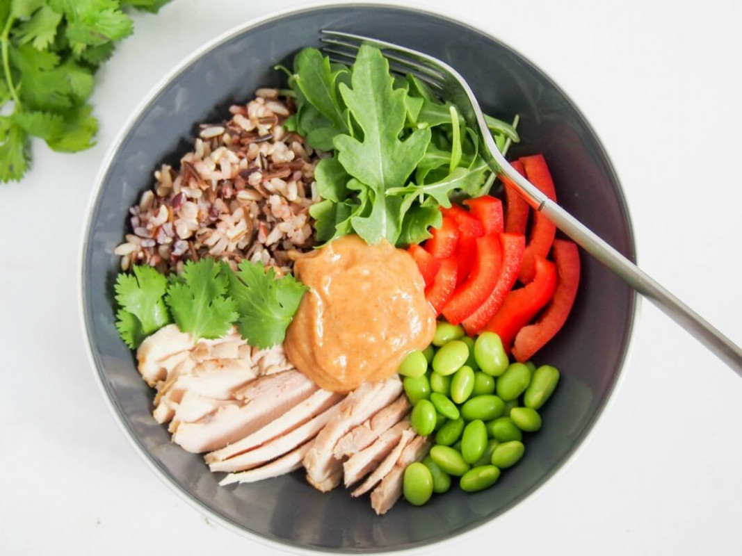 Thai-style leftover chicken Buddha bowl - recipes for leftover chicken