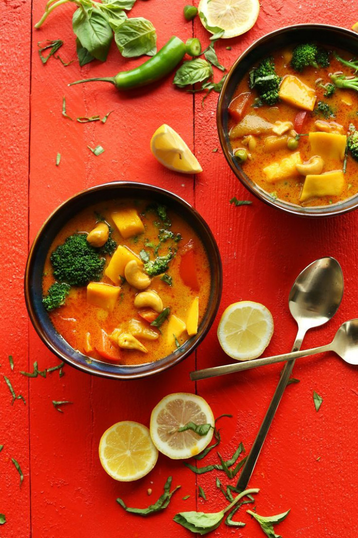 Thai Yellow Coconut Curry with Mango | Recipe | VEGETARIAN ..