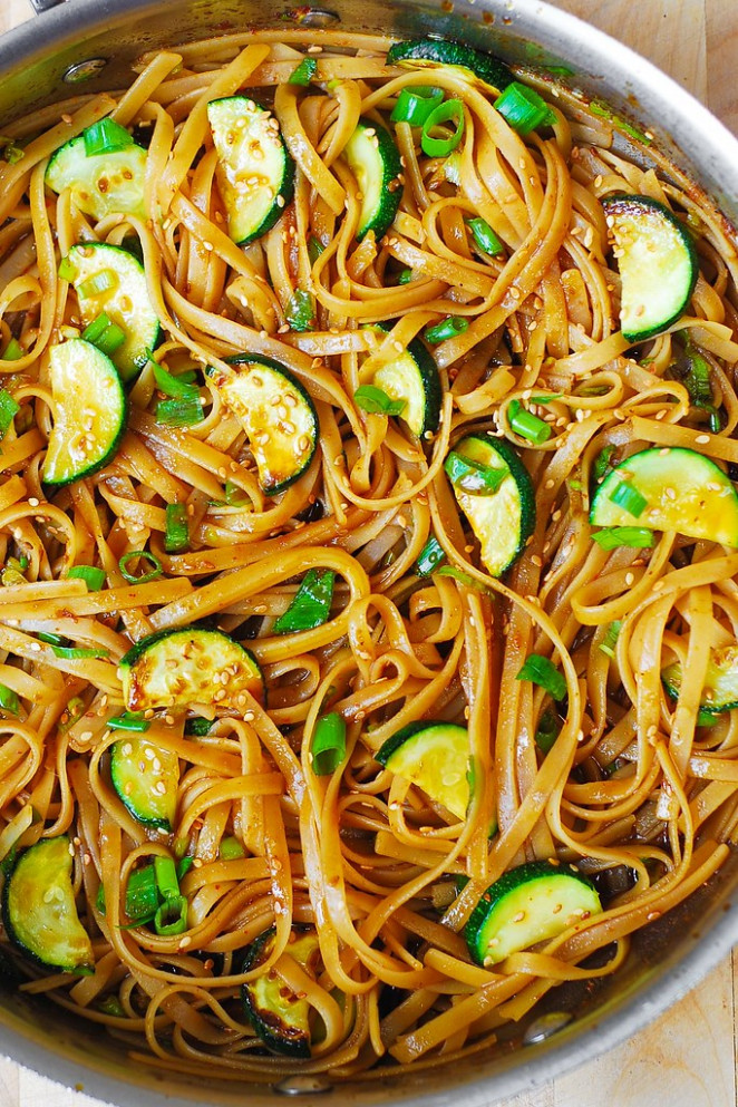 Thai Zucchini Noodles - dinner recipes with zucchini noodles