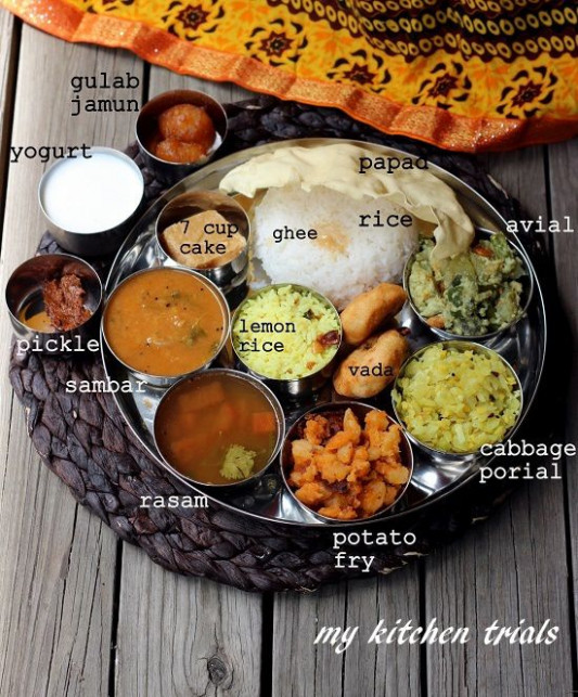 Thali – My Kitchen Trials. A Typical South Indian Tamil ..