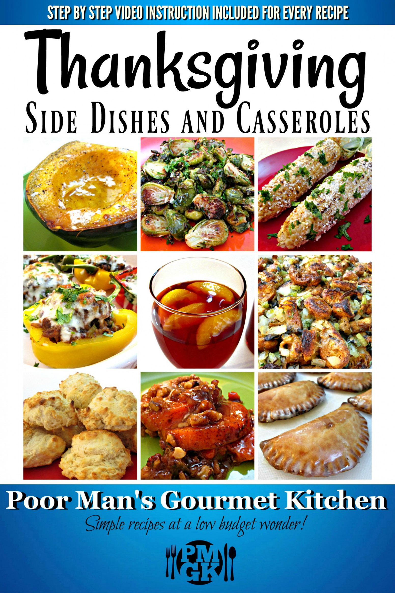 Thanksgiving Side Dishes and Casseroles eBook - vegetarian recipes youtube channel