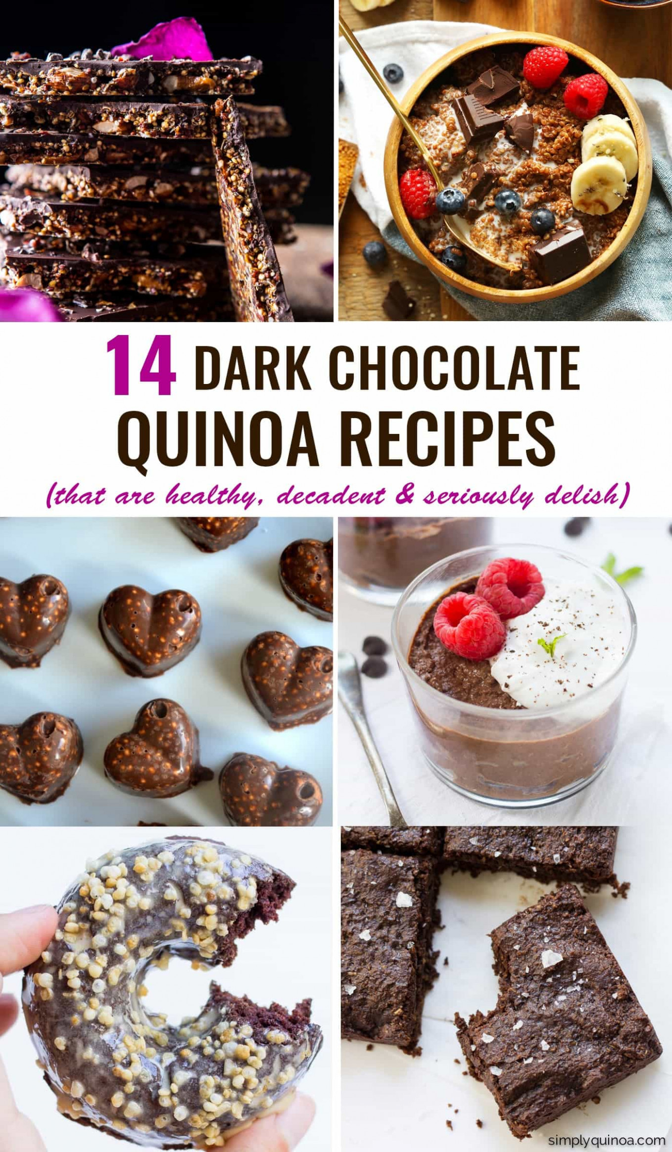 The 14 Best Chocolate Quinoa Recipes - Simply Quinoa - healthy quinoa recipes