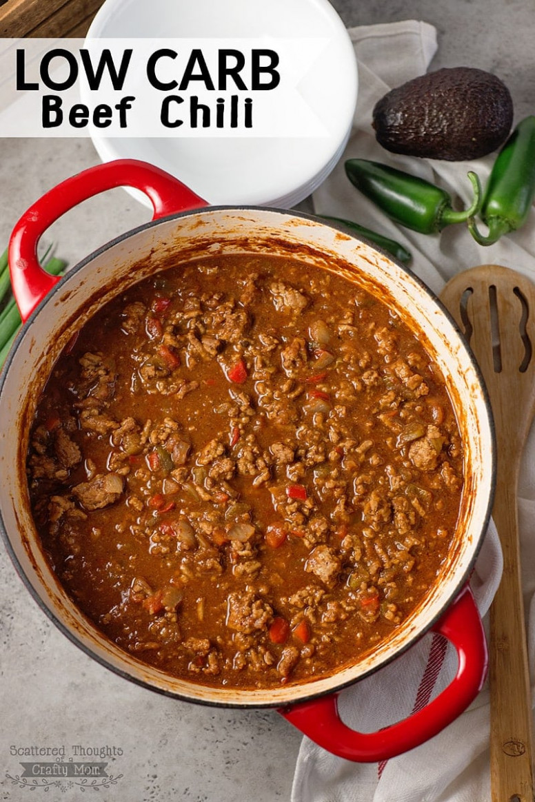 The Absolute BEST Low Carb Chili Recipe (No Bean Chili) - Recipes Dinner Low Carb