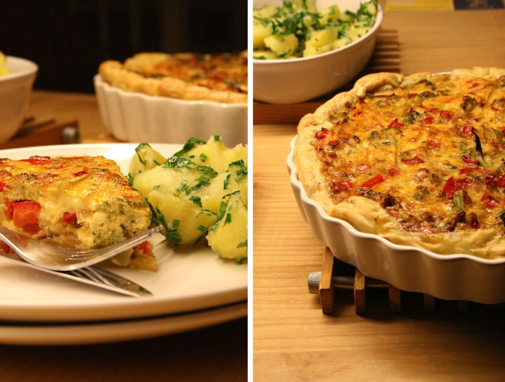 The Afters; Broccoli and Cheese Quiche - quiche recipes dinner