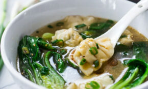 The BEST 15 Minute Wonton Soup! | Feasting At Home