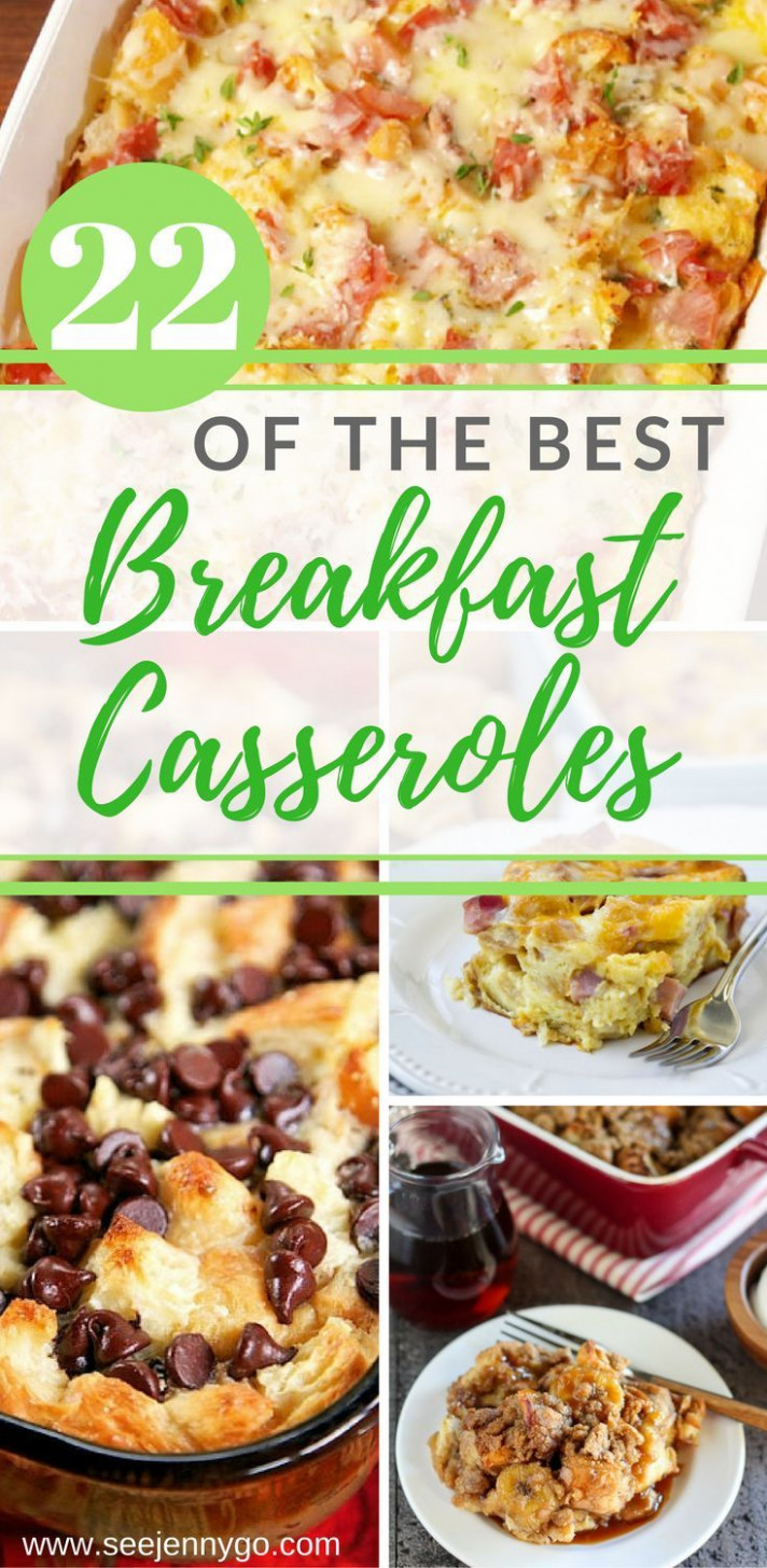The Best Breakfast Casseroles | breakfast - dinner recipes you can make the night before