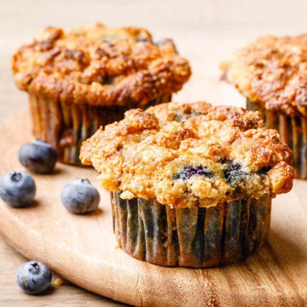 The Best Coconut Flour Blueberry Muffins (With Crumble Top) - recipes blueberry muffins healthy