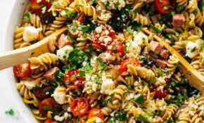 The Best Easy Italian Pasta Salad Recipe – Pinch Of Yum – Fusilli Pasta Recipes Vegetarian