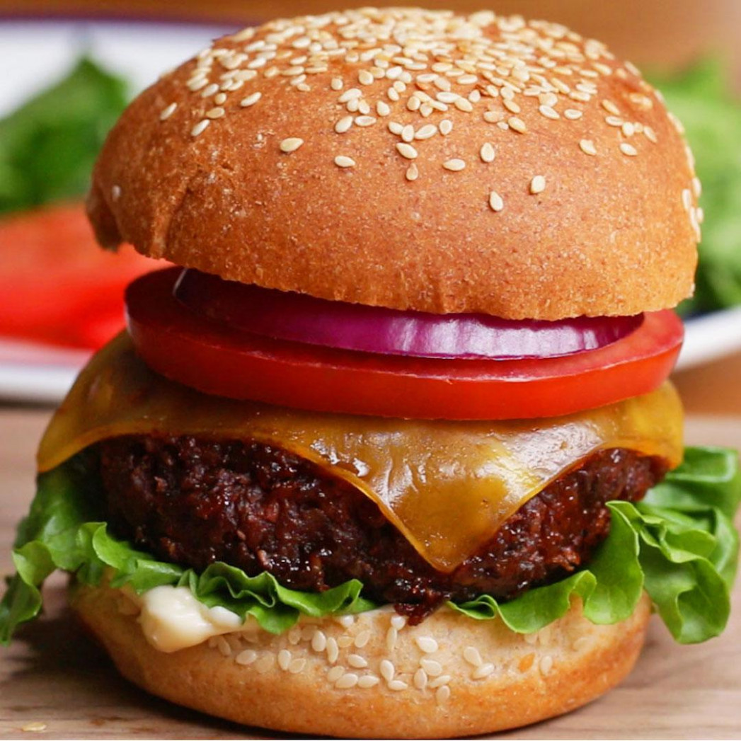 The Best Ever Vegan Burger Recipe by Tasty - recipes vegetarian burger patty