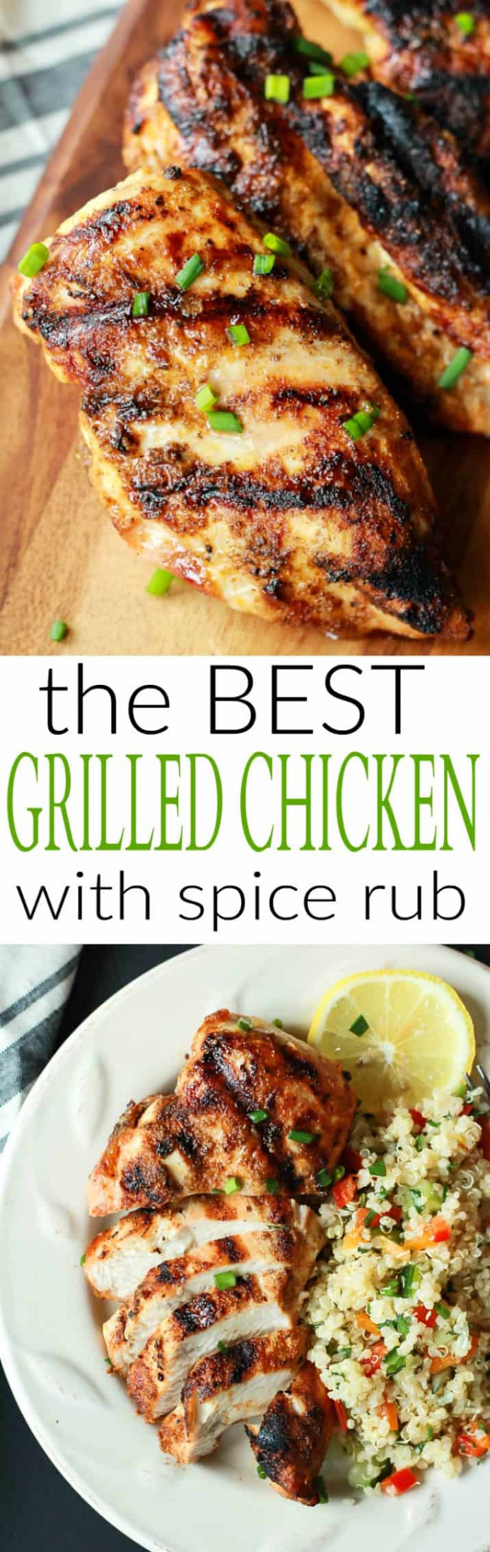 The BEST Grilled Chicken Recipe with Spice Rub | Easy ..