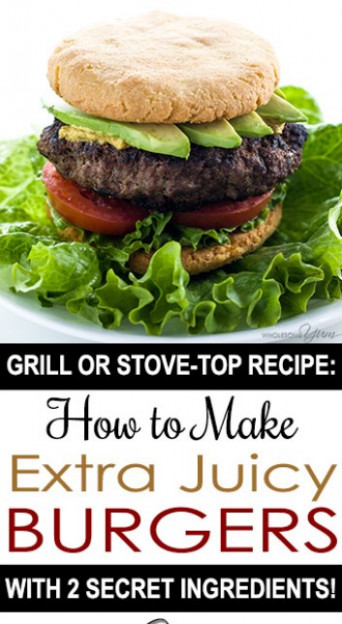 THE BEST JUICY BURGER RECIPE ON THE STOVE TOP OR GRILL ..