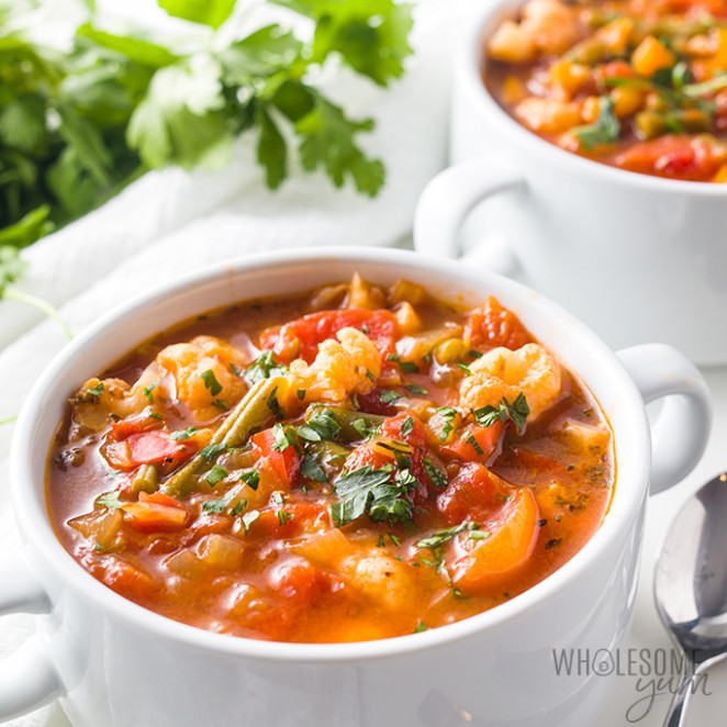 The Best Keto Low Carb Vegetable Soup Recipe | Wholesome Yum - low carb recipes vegetarian