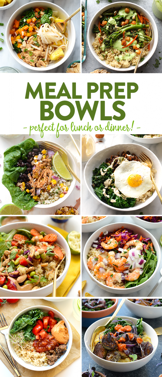The Best Meal Prep Bowl Recipes Around Town! | Fit Foodie Finds - Recipes Dinner Bowls